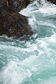 stock photo of pacific rim  - Rock and wave Pacific Rim for background - JPG