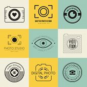 picture of mass media  - Vector collection of photography logo templates - JPG
