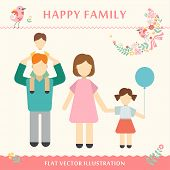 image of grandmother  - Family with children kids people concept flat icons set of parenting - JPG