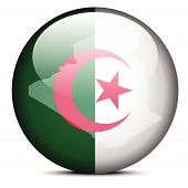pic of algeria  - Map on flag button of People - JPG