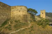 stock photo of crimea  - Genoese fortress in Sudak Crimea - JPG