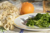 picture of turnips  - traditional dish of Apuleia: pasta with stewed turnip greens