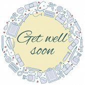 stock photo of get well soon  - Get well soon card - JPG