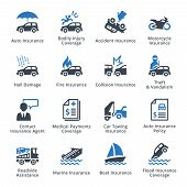 picture of theft  - This set contains 16 vehicle insurance icons that can be used for designing and developing websites - JPG