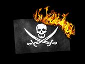 picture of pirate flag  - Flag burning  - JPG