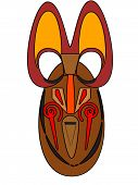 pic of african mask  - graph african mask isolated on a white background - JPG