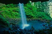 foto of ponytail  - Columbia Gorge Ponytail Falls, beautiful nature of Oregon