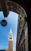 stock photo of blue-bell  - Bell tower in Saint Mark - JPG
