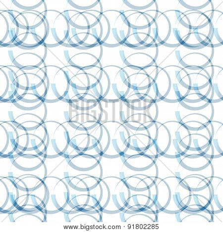 Stylish, Fresh Vector Pattern / Background. Seamlessly Repeatable. Monochromatic Blue Colors.