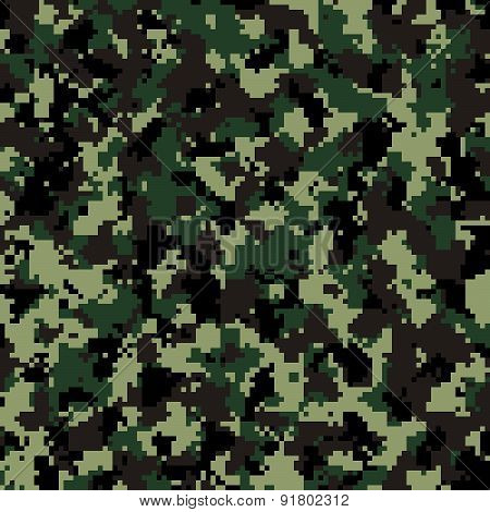 Thai Army digital camouflage pattern background