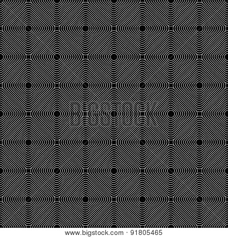 Repeatable Square Pattern With Tilted Squares. Simple Pattern.