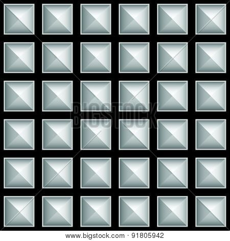 Studded Pointed Pattern, Background. Seamlessly Tileable, Vector.