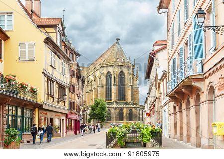 Colmar, France - 18 August, 2014: Area