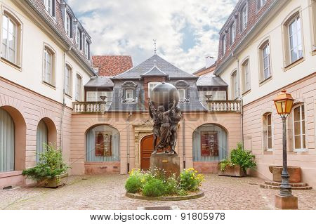 Colmar, France - 18 August, 2014: Musee Bartholdi. Colmar is the most popular tourist destination in France, founded in the 9th century.