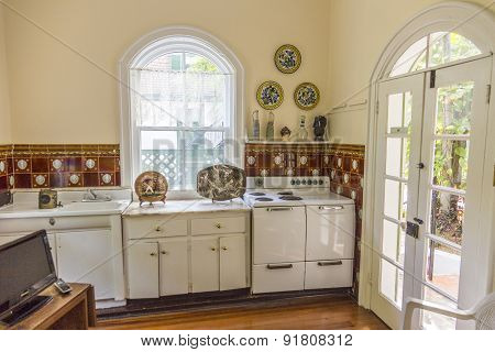 Kitchen Of Ernest Hemmingway In Key West