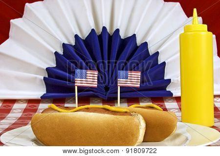 Patriotic Food Hot Dogs