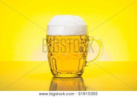 Mug With Fresh, Foamy Beer