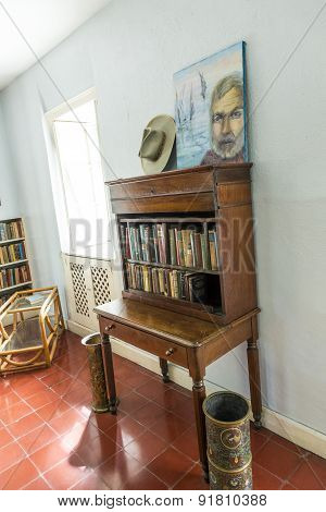 Working Room Of Ernest Hemmingway In Key West