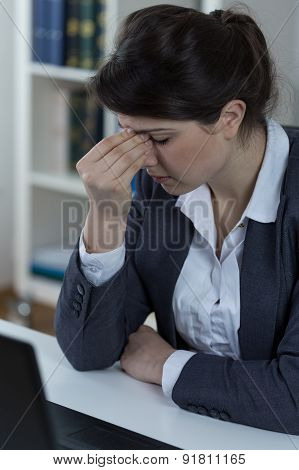 Office Worker With Sinusitis