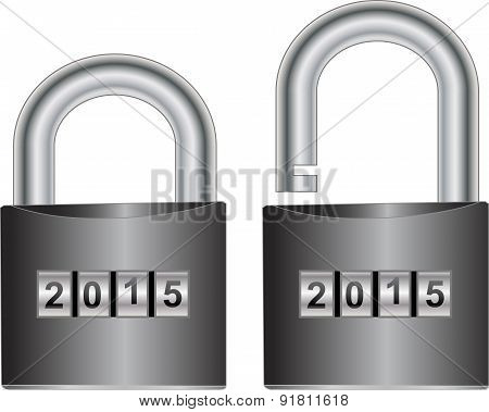 Isolated Padlock