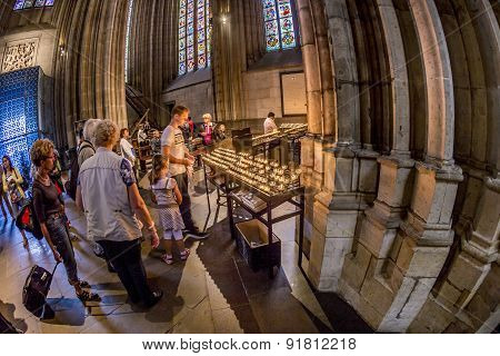 Service Held In Central Nave Of Cologne Cathedral, Germany