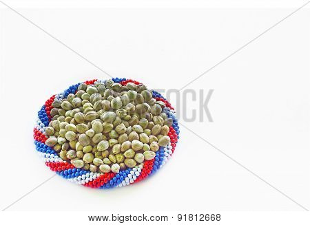 Hemp Seeds In A Bracelet Of Flag Colours