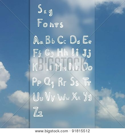 Hand drawn vintage textured vector ABC letters.