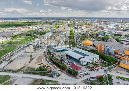 Industrial area of city. Tyumen.Russia