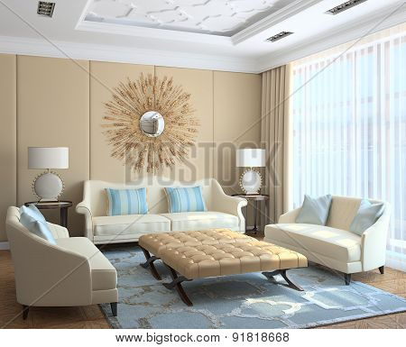 Modern Living-room Interior.