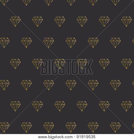 Golden shiny diamond pattern