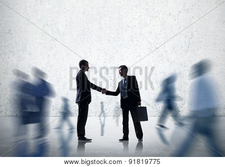 Business People Handshake Greeting Agreement Corporate Concept