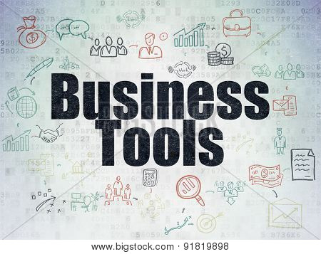Business concept: Business Tools on Digital Paper background