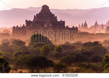 The Dhammayangyi temple at dusk, the oldest in Bagan, Myanmar