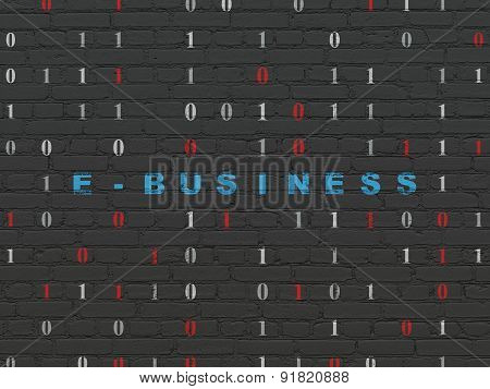Finance concept: E-business on wall background