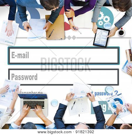 E-mail Identity Password Mem bership Sing In Web Page Concept