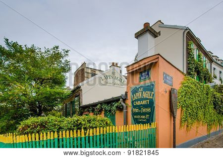 Historic Au Lapin Agile Cabaret in Paris