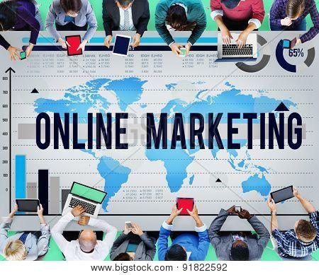 Online Marketing Commerce Digital Internet Concept