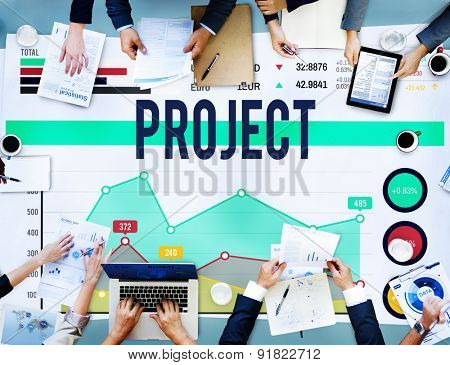Project Enterprise Team Progress Strategy Concept