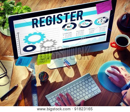 Register Registration Application Enlist Concept