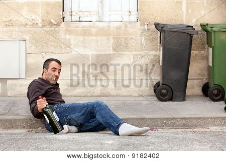 Drunk Man Lying