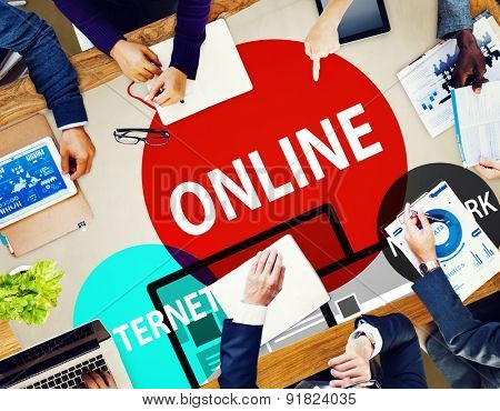 Online Network Internet Connnecting Concept