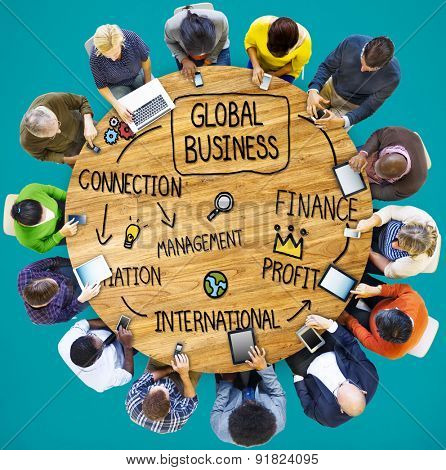 Global Business International Management Corporate Concept