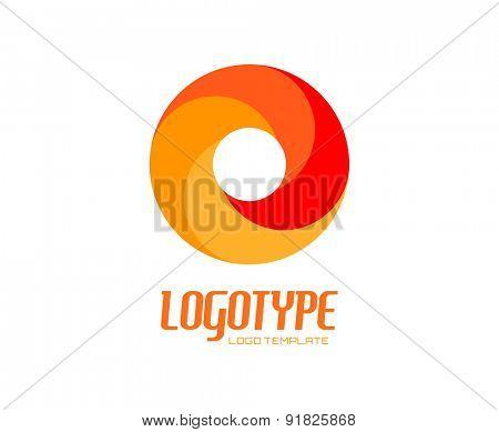 Abstract vector logo design elements. Arrows, labels, symbols. Vector illustration