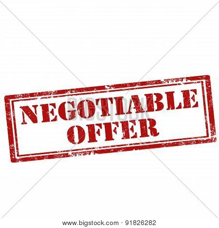 Negotiable Offer