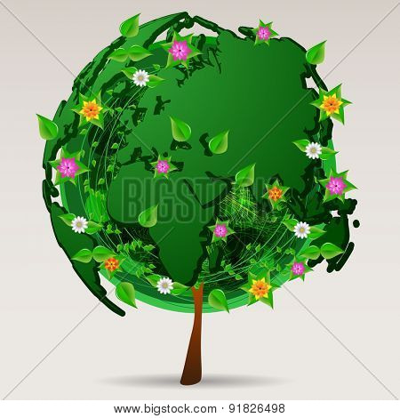 Save the World - Eco Design - Icon or Logo Concept