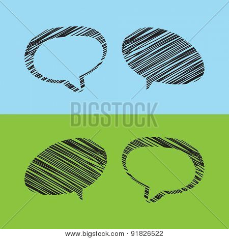 Grunge Speech Bubble Designs with Text Space