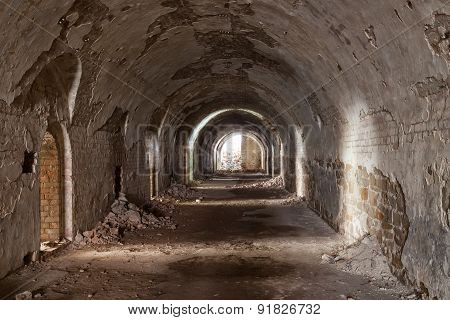 Stone Destroyed  Tunnel In  Fort Tarakanovskiy.