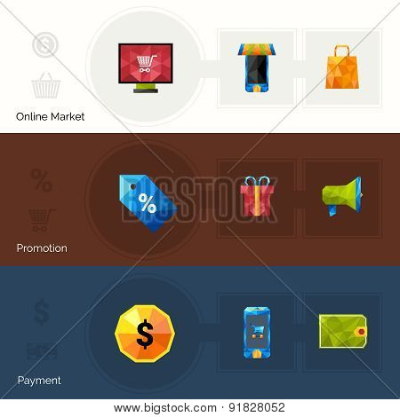 E-commerce Polygonal Banners