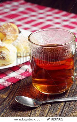 Tea And Cookies Wit Raisins