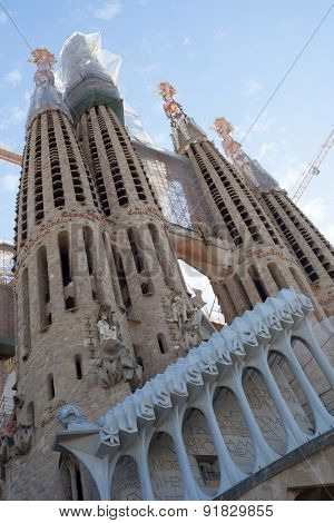 BARCELONA, SPAIN - APRIL, 2015: La Sagrada Familia in Barcelona